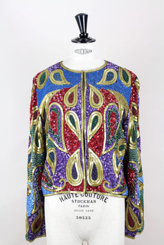 Paisley Sequin & Bead Jacket