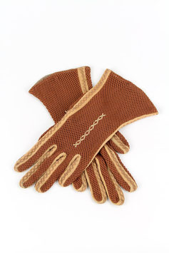 Embroidered Mesh Gloves