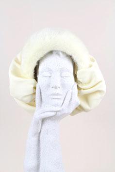 Bonnet-Style Mink Fur Hat