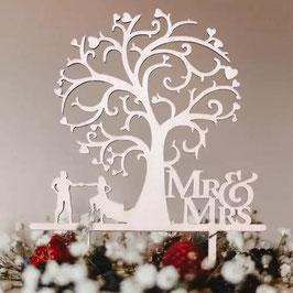 """Caketopper Mr.&Mrs """"Tree"""""""