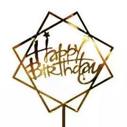 Caketopper Happy Birthday Stars