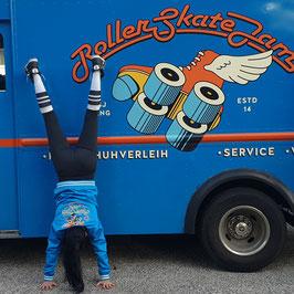 Rollerskate Jam Gäng Jacke (blau, Frau)