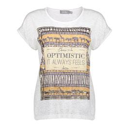 GEISHA T-Shirt (12042-40/ 000000 white-tabacco)