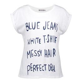 GEISHA T-Shirt (12031-46/ 000000 white-darknavy)