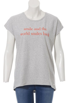 VIA APPIA T-Shirt (721395  / 161380 silber mel/orange)