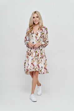 CATNOIR Kleid (3720-10 / 580 weiß-blumen)