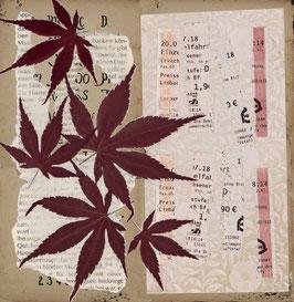 Kunstdruck Ahornblätter