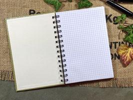 Handgefertigtes Tagebuch aus einem Vintage Bucheinband