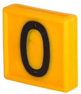 Nummernblock Standard - je 10 Stück gelb