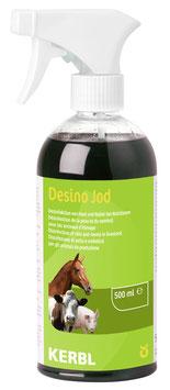 Desinfektionsspray Desino Jod * Jodhaltiges Haut- und Nabelspray für alle Tierarten - 500 ml