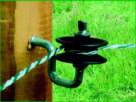 Eckisolator für Litze und Seil - 25Stück
