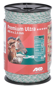 Premium Ultra Weidezaunlitze - 400m - 2,50mm