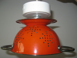 Küchensieb-Lampe orange