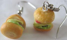 Kleine Burger-Ohrringe