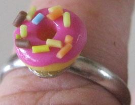 Rosa Donut-Ring