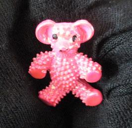 Rosa Bären-Brosche