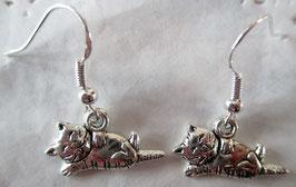 Ohrringe Liegende Katze