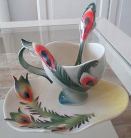 Pfauen-Tassen-Set