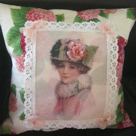 Kissen rosa Lady