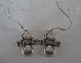 "Ohrringe ""I love Tennis"""