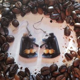Kaffeemaschinen-Ohrringe