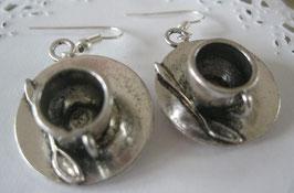 Kaffeetassen-Ohrringe