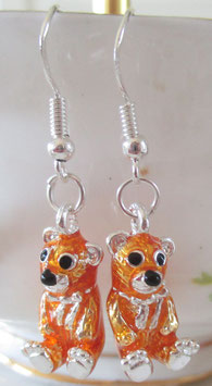 Bären-Ohrringe goldfarben