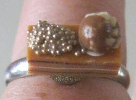 Schoko-Nougatschnitten-Ring