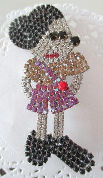Gablonzer Minnie-Maus-Brosche
