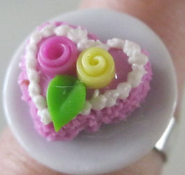 Herzerlkuchen-Ring rosa