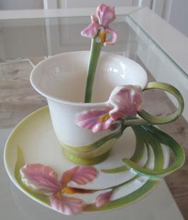 Tassen-Set mit Iris