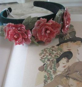Rosa Blumen-Haarreif