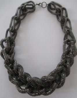 Dicke Schlauchkette schwarz/grau