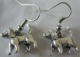 Metall-Dackel-Ohrringe