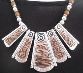 Metallkette silber/bronze