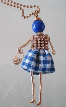 Valentina-Kette blaues Karo
