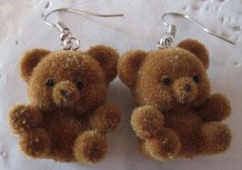 Braune Bären-Ohrringe