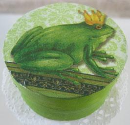 Froschkönig-Schachtel rund