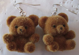 Bären-Ohrringe beflockt