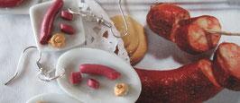 Burenwurst mit Senf - Ohrringe