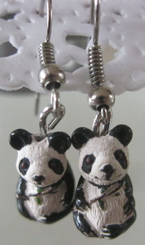 Keramik-Panda-Ohrringe