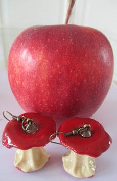 Rote Apfel-Ohrringe