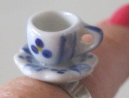 Tassenring blau/weiß