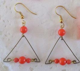 Orange Ohrringe Dreieck