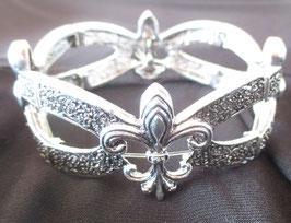 Metall-Armband mit französischer Lilie