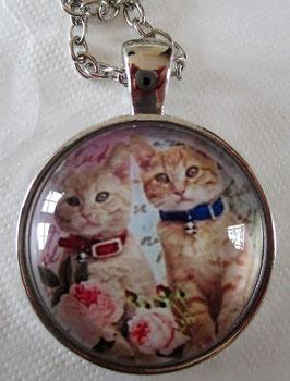 Kette mit Katzen-Medaillon