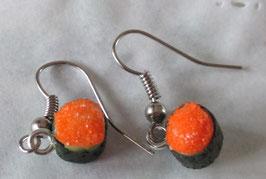 Sushi-Ohrringe mit Kaviar