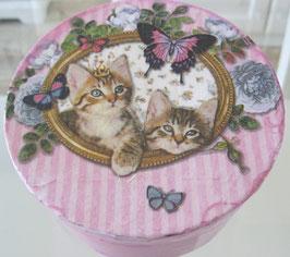 Rosa Katzen-Dose groß