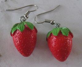 Erdbeer-Ohrringe
