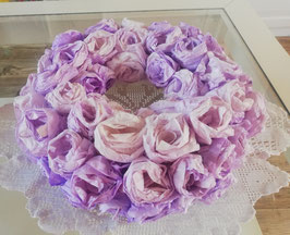 Shabby-Deko-Kranz in Violett
